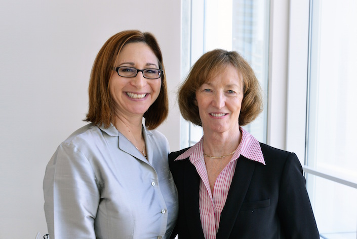NSBRI Deputy Chief Scientist and Industry Forum Lead Dorit B. Donoviel, Ph.D. with SMARTCAP Co-Administrator Martha Flemming, M.B.A (Left to Right)