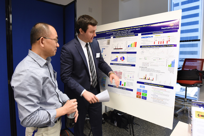A NASA radiation scientist learns about BIO 300 and discusses the proposed BioShield 4 Mars project with Adam Harvey of Humanetics.